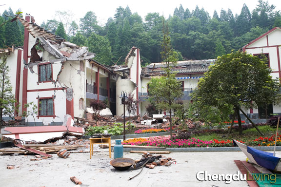 Destroyed hotel