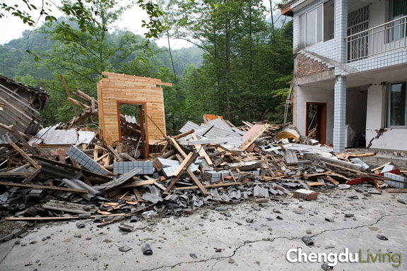 Mountain building reduced to rubble