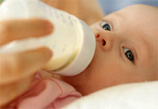 baby drinking imported milk