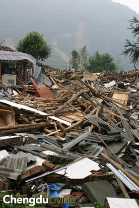 Sichuan quake rubble